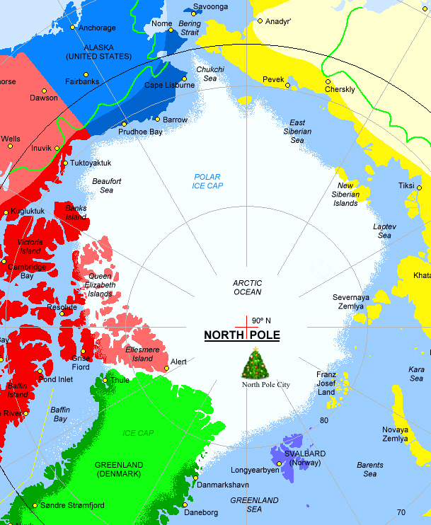 The exact address for north pole city for postal purposes is