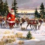 Where Did Santa Claus's Enchanted Flying Reindeer Come From?