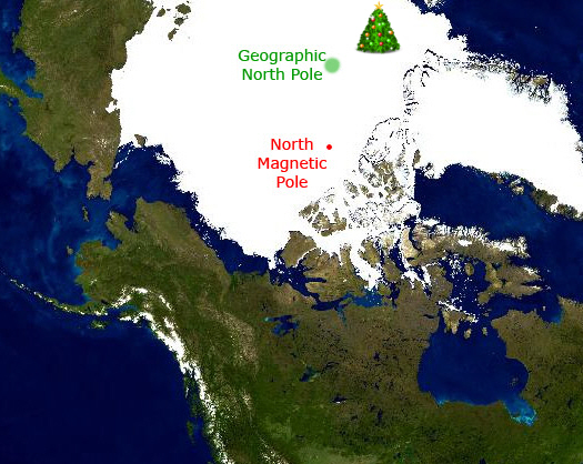Does santa claus live at the geographic or magnetic north pole santa claus location north sciox Image collections
