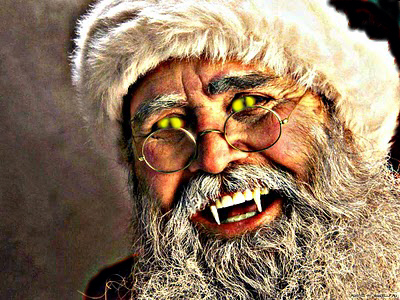 The Anti-Claus displaying one of his demonic appearances.