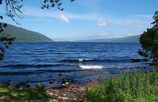 View from McTavish Academy grounds on the shore of Loch Ness.