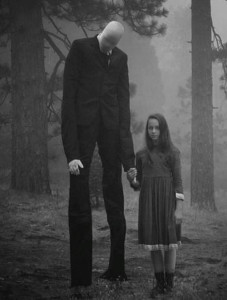 Slender Man With Child