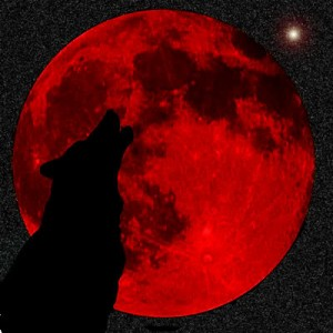 Blood Moon Werewolf Warning