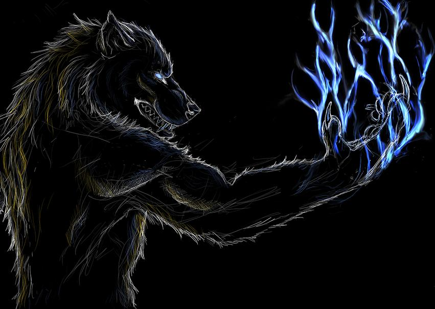 The Thunderous Lunar Lightning Werewolf Warning
